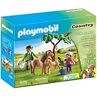 PLAYMOBIL. Pony Farm Bundled Vet with Pony and Foal