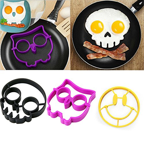Fried Egg Ring - Breakfast Silicone Smile Skull Owl Fried Egg Mold Pancake Egg Ring Shaper Funny Creative Kitchen Tool - Egg Silicone Ring - Maryland National In The Harbor