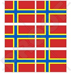 """4,7/"""" Stickers Decals x2 ORKNEY ISLANDS Flying Flag SCOTLAND UK Scottish 120mm"""
