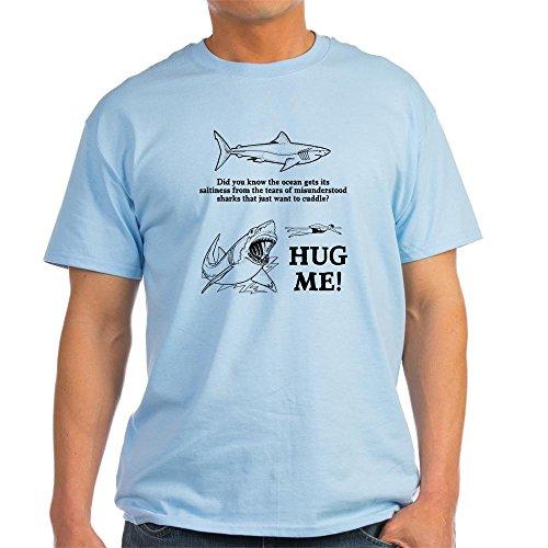 - CafePress Sharks Need Hugs 100% Cotton T-Shirt Light Blue