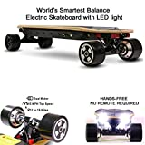 NEJA Electric Skateboard, 32 Inch Electric Longboard | 15MPH Max Speed | Gyroscope Self-Balancing Skateboard, Motorized Skateboard with LED Light, NO REMOTE NEED