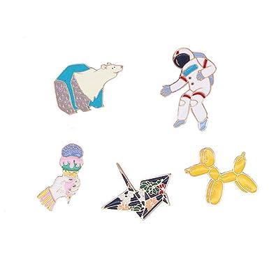 22893bf0ed62 Bettersong Cute Enamel Pin Set - Funny Animal Enamel Lapel Pins for  Backpacks & Jackets