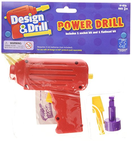 Educational Insights Design & Drill Power Tool Drill with 2 Bits