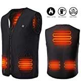 Yevohadt Men Heated Vest,Rechargable Lightweight Body Warmer Women Jacket Hunting Clothes Black
