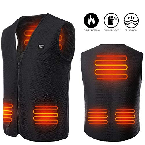 Yevohadt Heated Vest for Men Women, Heating Jacket for Outdoor Hunting, Motorcycle&Riding Black
