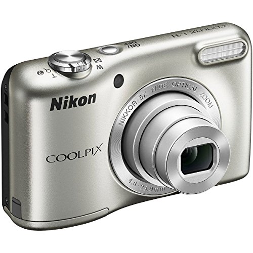 Nikon COOLPIX L31 CR 2.7 inch Lens 16.1MP Compact Digital Camera (5x Optical Zoom, 720P Video, Silver) (Certified Refurbished) by Nikon
