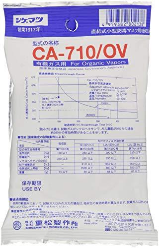 シゲマツ(重松製作所) 防毒マスク有機ガス用吸収缶 CA-710OV
