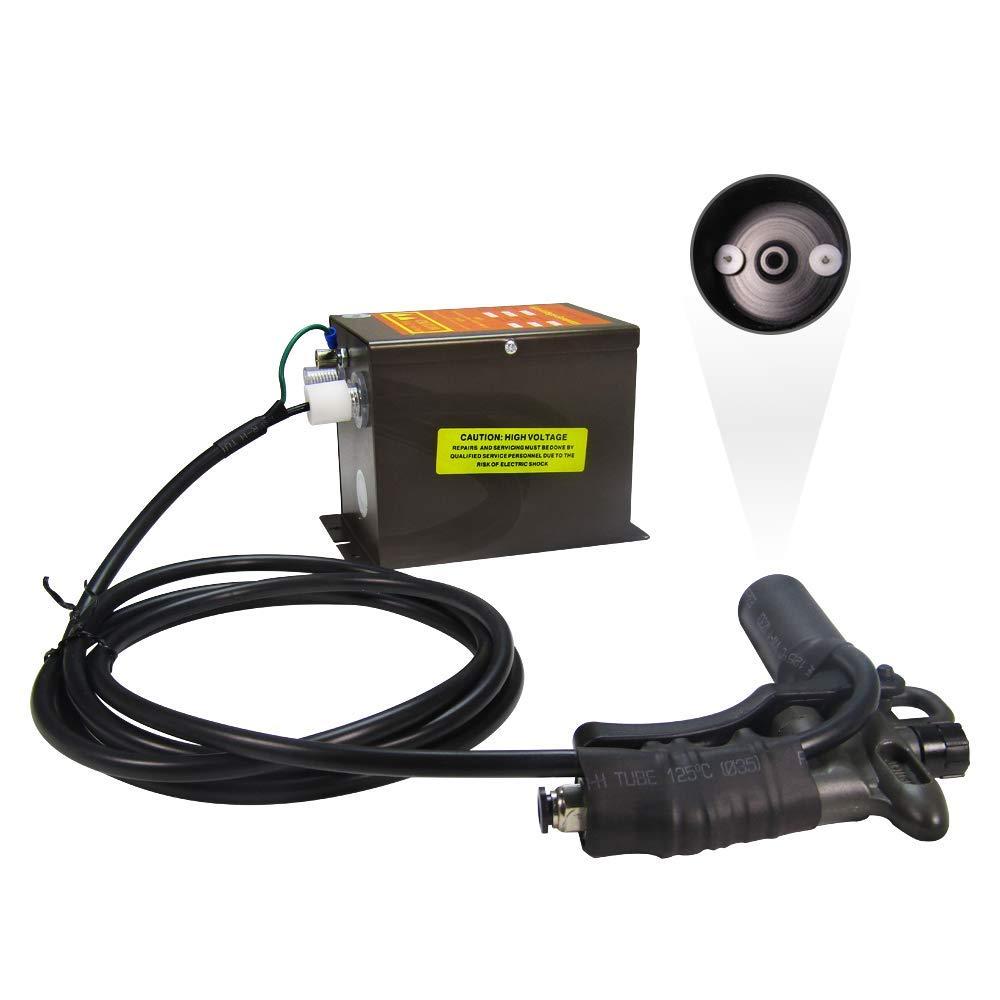 YUCHENGTECH Pistola antiestática Pistola de aire ionizante Eliminador electrostático ESD + Generador de alto voltaje 7KV (con una pistola de aire)