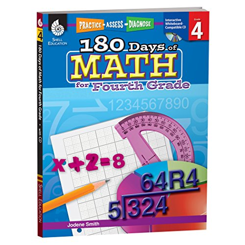180 Days of Math for Fourth Grade – 4th Grade Problem Solving Workbook for Ages 8-10, Children's Math Workbook for Grade 4 (180 Days of (4th Grade Curriculum)
