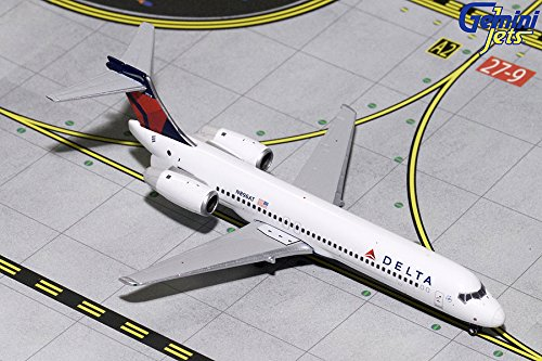 GeminiJets GJDAL1738 Delta Air Lines 1:400 Scale Diecast Model Airplane, White
