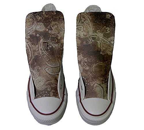 Converse All Star Customized - zapatos personalizados (Producto Artesano) Gold Paisley