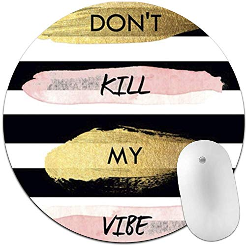 Creative Text, Non-Slip Rubber Round Mouse Pad, Professional and Comfortable for Mouse to Slip