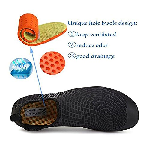 For Barefoot Dry 3 Lauwodun Black Men Shoes Running Exercise Aqua Sock Beach Water Yoga Surfing Women Quick wISqzF