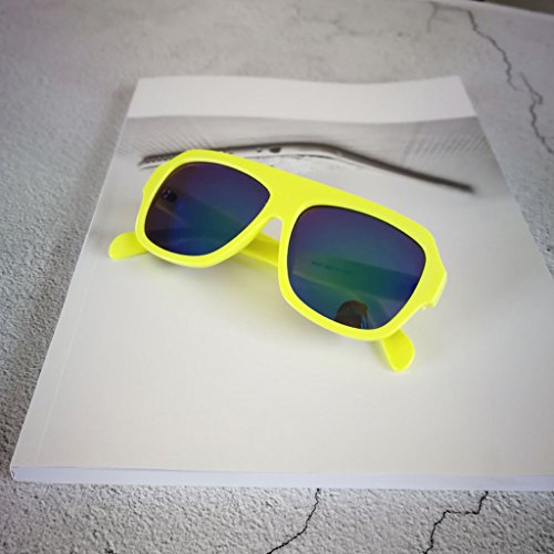 Bloque Retro Sunglass Al Gafas Ciclismo amarillo Sol para de Deporte Helm de Crema Libre Aire MagiDeal 1fBwq88