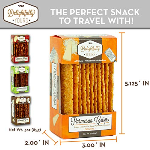 Delightfully Yours Parmesan Cheese Crisps- (VARIETY 4 PACK) - Parmesan Crisps - Keto Crackers - Cheese Crisps Low Carb Keto - Parmesan Chips Made Of Just Cheese - Keto Cheese Crisps - Cheese Chips 2