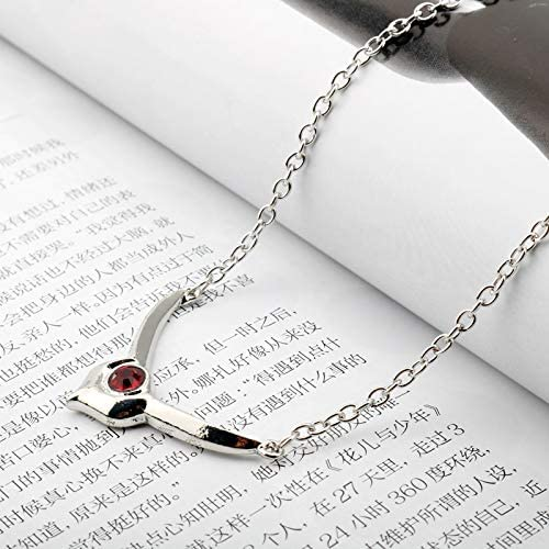 Necklace for Men Anime Jewelry Code Geass Lelouch Lamperouge Red Crystal Pendant Necklace Cosplay Xmas Gift Necklace For Men Women