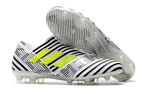 Men's High Ankle Soccer Shoes Adidas Nemeziz Ace 17+ Agility FG Black/White (US 7) by LVN Trading