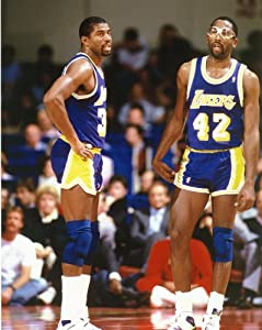 Magic Johnson James Worthy NBA Poster Photo Los Angeles Lakers Posters 11x14