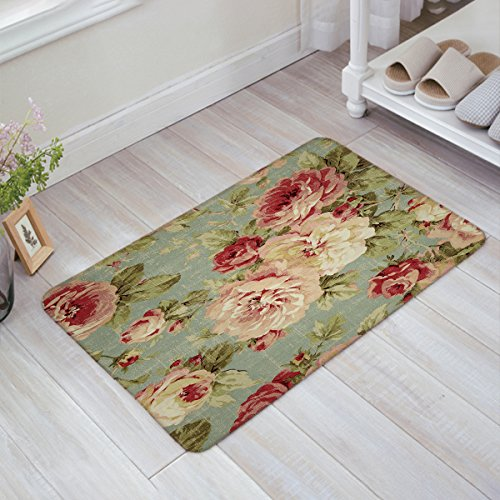 Infinidesign Welcome Doormat Kitchen Floor Bath Entrance Mat Rug Indoor/Front Door Thin Mats Rubber Non Slip 18