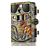 Flexzion Game and Trail Hunting Scouting Camera - 12MP 1080P HD, IP66 Waterproof, PIR Motion Detector Sensor, Predator Call, Wide Angle Color Night Vision Video Audio Digital Recording Surveillance