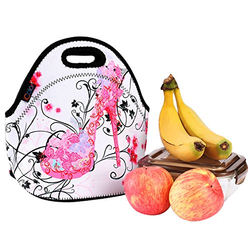 iColor Pink Butterfly Shoe Insulated Neoprene Fashion Lunch