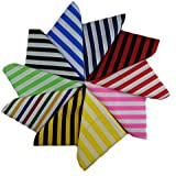 10 Piece Fat Quarter Fabric Bundle Stripes ( Remnant Quilting Crafts ) by Nortex Mill