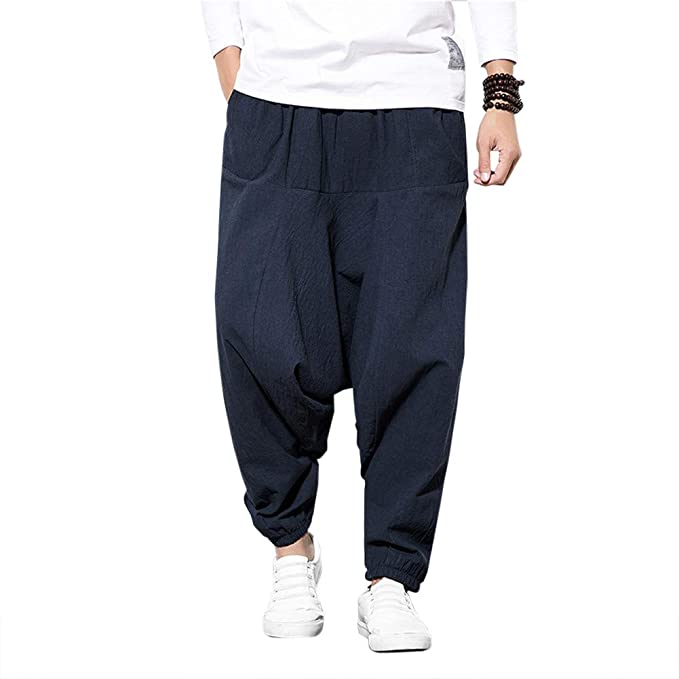 Pantalones Bombachos Cagados Hombre Mujer Unisex para Yoga ...