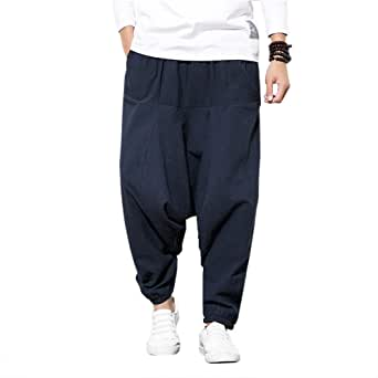Pantalones Bombachos Cagados Hombre Mujer Unisex para Yoga Cómodo ...