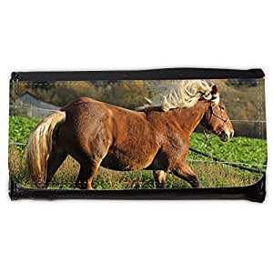 le portefeuille de grands luxe femmes avec beaucoup de compartiments // M00314798 Caballo Animal Pferdeportrait // Large Size Wallet