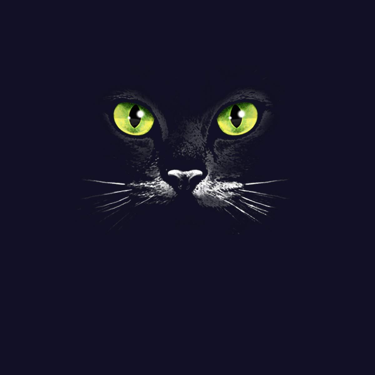 avocadoWEAR Gato Luna Mujer Camiseta XS-3XL