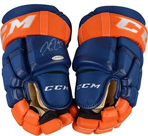 Connor McDavid Edmonton Oilers Autographed CCM Game Model Hockey Gloves - Upper Deck - Fanatics Authentic ()