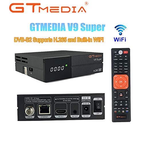 GTMEDIA V9 Super Satellite Receiver DVB-S2 Full HD 1080P Support H.265 PowerVu DRE & Biss Key Built-in WiFi