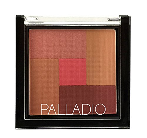 Palladio 2-In-1 Mosaic Powder Blush & Bronzer, Pink Truffle