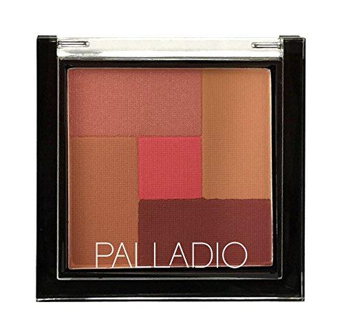 Palladio 2-In-1 Mosaic Powder Blush & Bronzer, Pink Truffle