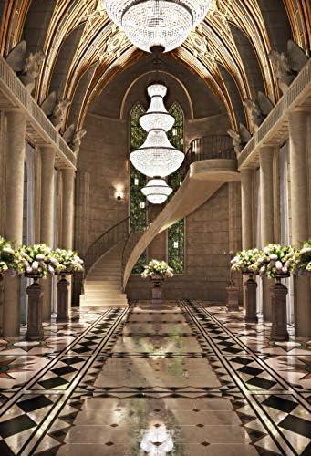 OERJU 1x1,5m Salon de Bodas Fondo Candelabros de Cristal Escaleras Rotativas Hermosa Sala de Decoracion Fondo Fiesta temática Amante Boda Retratos de Adultos Fotografía Accesorios: Amazon.es: Electrónica