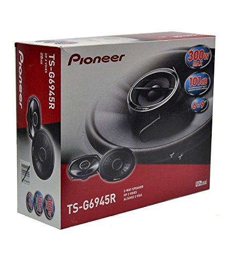 New Pioneer TS-G6945R 300 Watts 6'' X 9'' 2-Way 4 ohms Full Range Coaxial Car Audio Stereo Bass Woofer Loud Speakers 6X9 by Pioneer