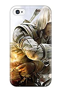 AmandaMichaelFazio Iphone 4/4s Hybrid Tpu Case Cover Silicon Bumper Assassin's Creed Iii Game