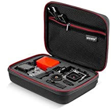 "Neewer NW200 9"" x 7"" x 3""/23 x 18 x 7cm Medium EVA Shockproof GoPro Case with buckle for GoPro Hero 4/3+/3/2/1 SJ4000 SJ5000 SJ6000 and Accessories -Travel Case with Excellent Cut Foam Interior -Black"