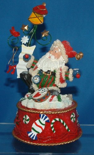 Wind Santa Up Musical Figurine - Santa Collectible Wind up Musical Figurine - Santa Claus is Coming to Town