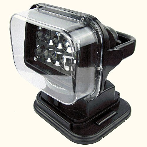 Finlon LED Marine Remote Control Searchlight Spotlight Waterproof Work Light for Offroad Truck Car Boat Home Security Farm Field Protection Emergency Lighting Garden 50W by Finlon