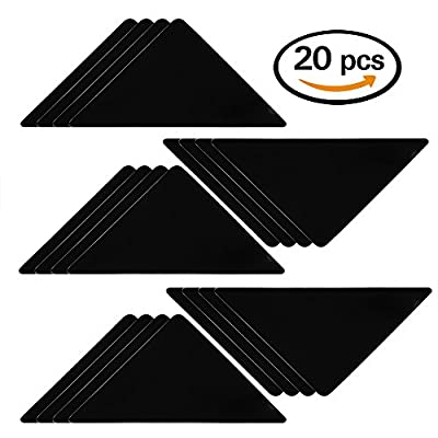 WXJ13 20 Pieces Rug Corners Anti Slip Self-adhesive Carpet Corner Gripper Pads