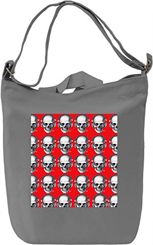 Music and Skull Borsa Giornaliera Canvas Canvas Day Bag| 100% Premium Cotton Canvas| DTG Printing|