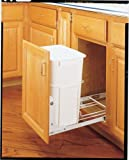 Rev-A-Shelf - RV-18PB-1 - Single 35 Qt. 14-3/8 in. Wide Pull-Out White Waste Container with 3/4 Extension Slides