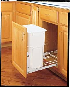 trash cabinet rev a shelf rv 18pb 1 single 35 qt 14 3 8 27298