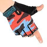 JINTN Kids Half Finger Gloves Fingerless Outdoor Cycling Gloves Sport Non-slip Fitness Gloves High Elasticity Gloves for Boy Girl Childen Bike Climping Hiking