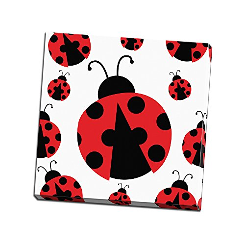 Ladybug II Printed on  Canvas Wall Art Decor by ND Art & Design