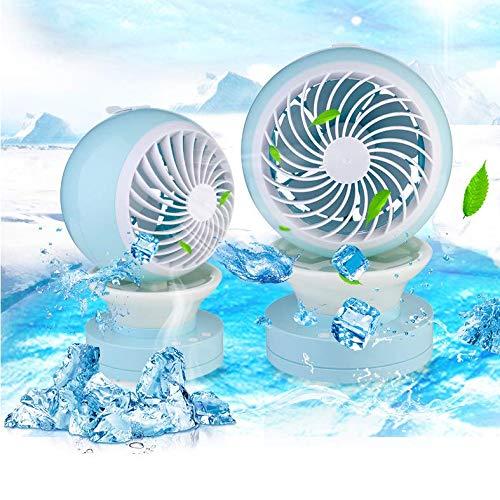 per Casa,Ufficio e Viaggi,Rosa Divgdovg Ventilatore USB Mini Condizionatore Portatile Raffreddatore dAria Evaporativo Mini 3 in 1 Dispositivo di Raffreddamento