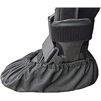 MyShoeCovers 1 Fracture Walking Boot Cover - Black | Large