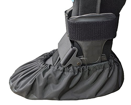 MyShoeCovers 1 Fracture Walking Boot Cover - Black | Medium