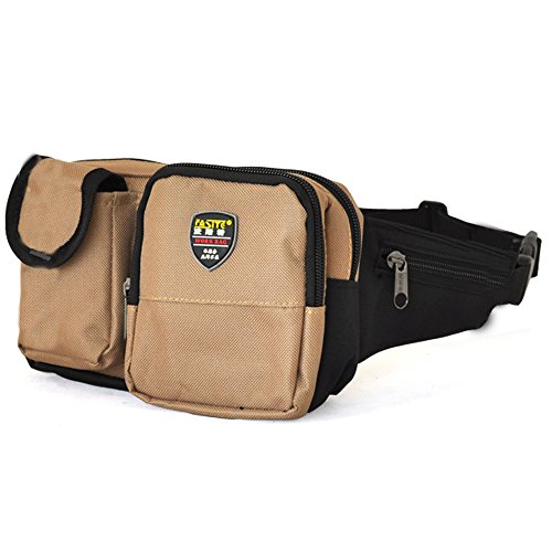 FASITE PT-N054 Waist Tool Bag Work Support Maintainer Utility Tool Belt Pouch Pt-x504,, Dark Yellow